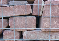 Cropped & Tumbled Red Walling Stone