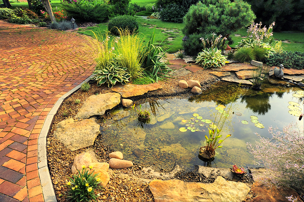 Puddling clay cost effective natural way to line your pond for Pond stones landscaping